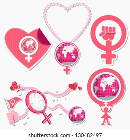 International Woman's Day 8 March Symbol And Icon