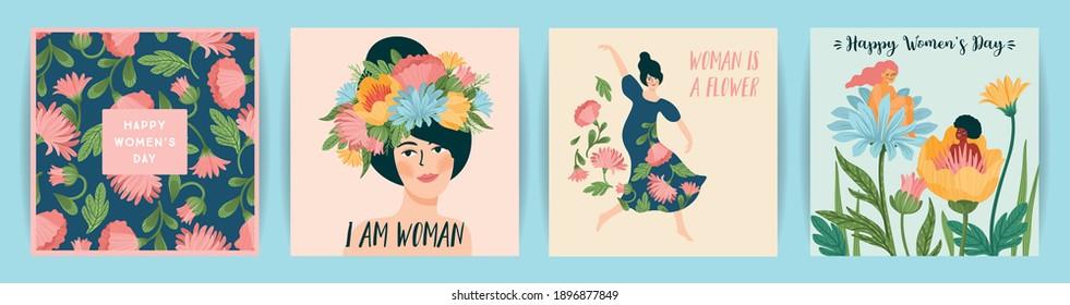 Female Poster Spring Illustration Woman Poster Woman Spring Spring Poster Female Woman Illustration Female Illustration