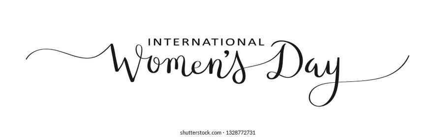 INTERNATIONAL WOMEN'S DAY brush calligraphy banner