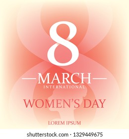 International Womens Day. Lettering design. Vector illustration