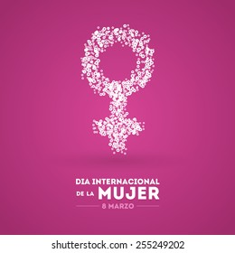 International Women's Day. March 8. Spanish
