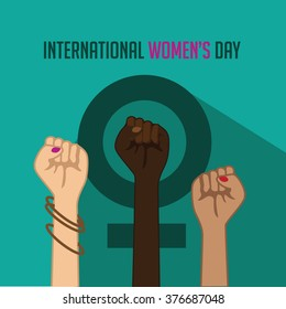 International Women's Day poster icon. EPS 10 vector.