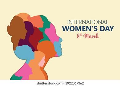 International women's day vector illustration.