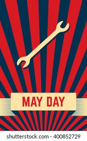 International workers day or May Day background.