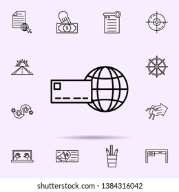 internet acquiring icon. Universal set of web mix for website design and development, app development