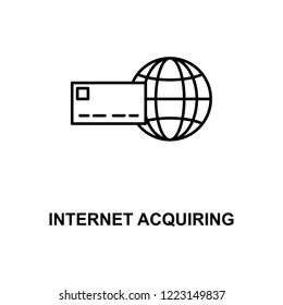 internet acquiring line icon