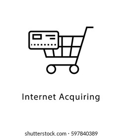 Internet Acquiring Vector Line Icon