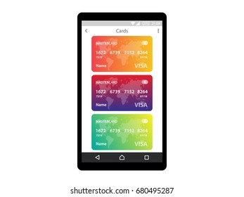 Internet banking concept app on mobile phone vector