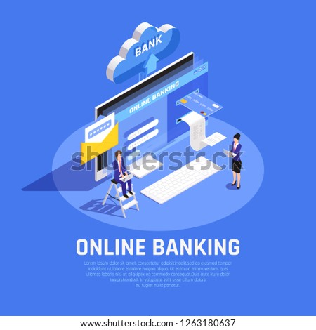 Ssfcu Login In >> Internet Banking Isometric Composition Online Account Stock Vector