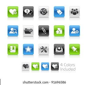 Internet & Blog Buttons  / The file Includes 4 color versions in different layers.