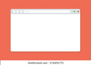 Internet browser mockup. Internet page mockup. Place for advertisemet. Blank space. Blank white browser.