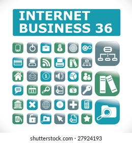 internet business 36 icon set
