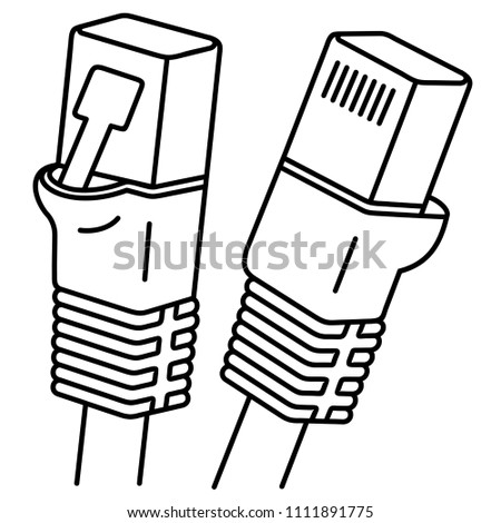 Internet Cable Ethernet Cable One Most Stock Vector Royalty Free