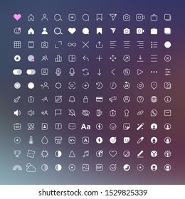 Internet communication social media instagram icons. Vector interface illustration: option, settings, menu, stories, user, symbol, sign logo
