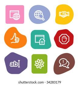 Internet communication web icons, colour spots series