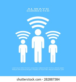 Internet connected person