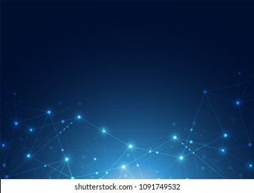 Internet connection abstract sense of science and technology graphic design background. Vector illustration