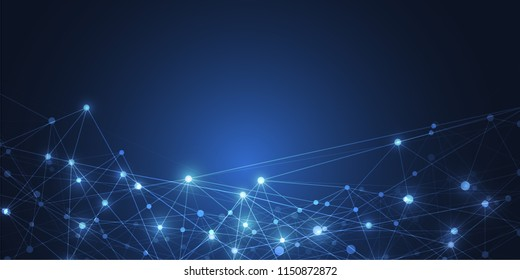 Internet connection, abstract sense of science and technology graphic design background. Vector illustration
