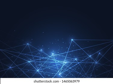 Internet connection, abstract sense of science and technology graphic design. Vector illustration