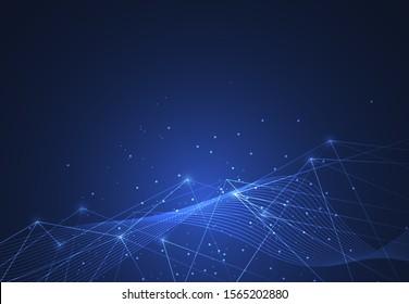 Internetanschluss, abstrakter Sinn für Wissenschafts- und Technologiedesign-Hintergrund. Vektorgrafik