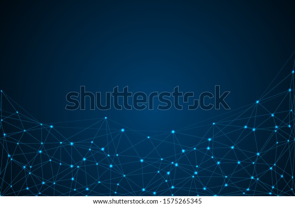 Internet connection network high digital technology. Abstract geometric background with connecting points and lines. Vector illustration EPS 10.