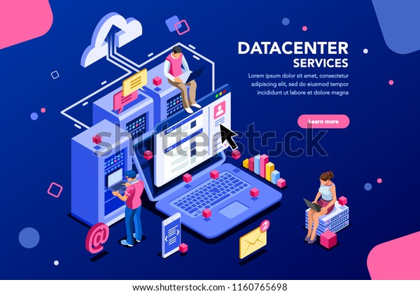 Internet Datacenter Connection Administrator Web Hosting Stock