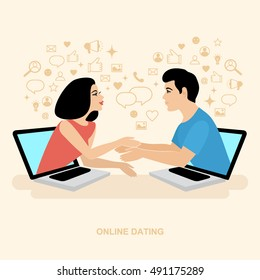 Internet Dating. Online communication. Finding love in the network