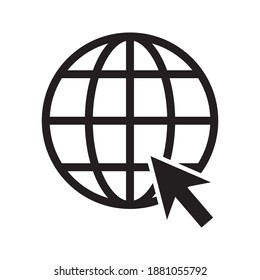 internet - globe icon design template vector on a white background