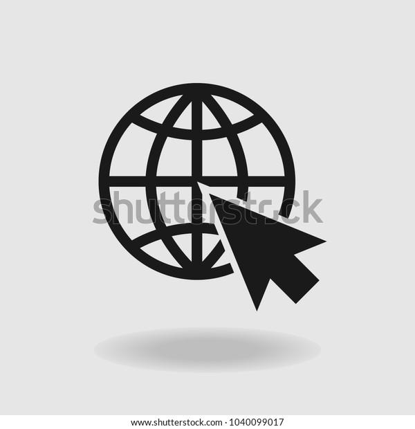 Vetor stock de Internet Globe Icon Vector (livre de direitos