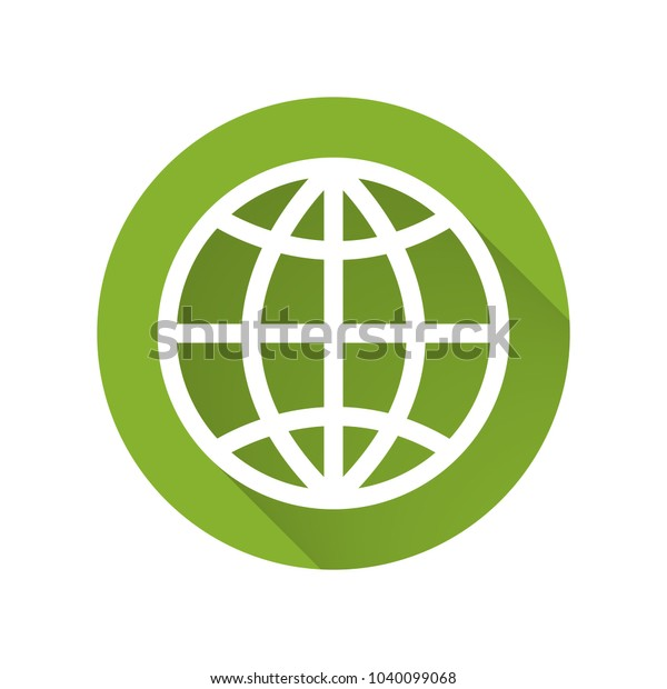 Internet Globe Icon Vector Stock Vector (Royalty Free