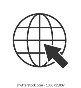 Internet. go to website symbol icon. Vector illustration color editable isolated on blank background. Eps 10.