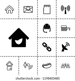 Internet icon. collection of 13 internet filled and outline icons such as eco house, hot dog, house, love letter, communication. editable internet icons for web and mobile.