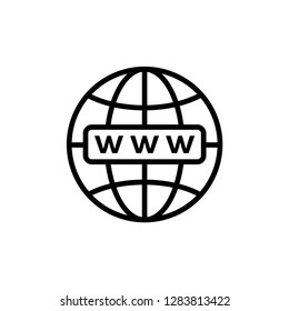 Internet icon : globe