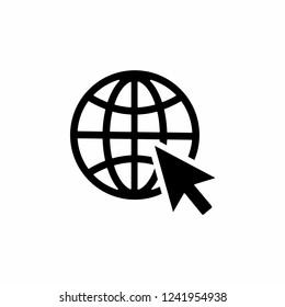 Internet icon, Go to web icon symbol vector. web icon vector