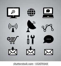 internet icon on gray background