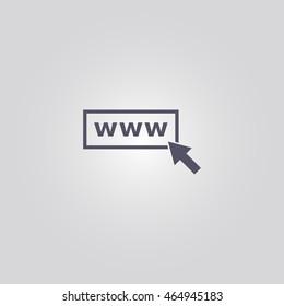 internet icon, vector illustration