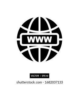 internet icon vector illustration logo simple design