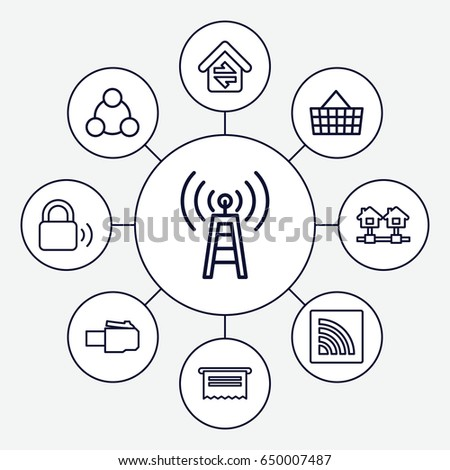 Internet Icons Set Set 9 Internet Stock Vector Royalty Free