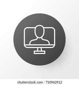 Internet Identity Icon Symbol. Premium Quality Isolated Online Identity Element In Trendy Style.