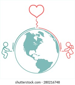 Long Distance Love Images Stock Photos Vectors Shutterstock