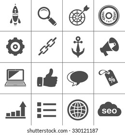 Internet marketing icons - SEO - Search engine optimization