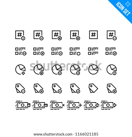 Internet Marketing Related Icon Set Contains Stock Vector Royalty