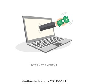 Internet payment flat illiustration. eps10