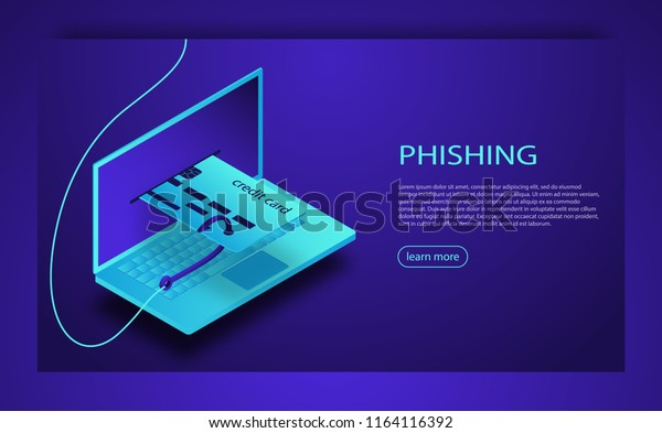 Internet Phishing Hacked Login Password Hacking Stock Vector