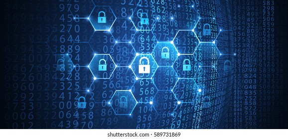 Internet security global network background. Vector illustration