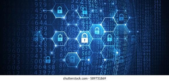 Internet security global network background. Vector illustration