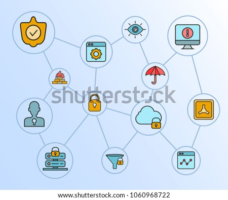 internet security network security diagram blue stock vectorinternet security and network security diagram in blue background