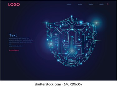 Internet security, privacy, safe certificate, data security, Vector illustration  for web banner, infographic, print materials. cyber data security or information privacy .