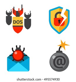 Internet security safety icons