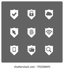 Internet security vector badges.